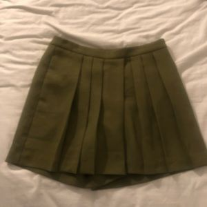 Hunter green skort.